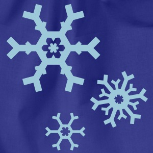 Snow Snowflake flakes T-Shirts - Drawstring Bag