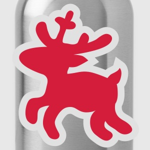 Christmas Reindeer deer T-Shirts - Water Bottle