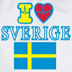 I LOVE SVERIGE - Turnbeutel