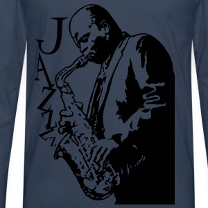 Saxophone player - Men's Premium Longsleeve Shirt
