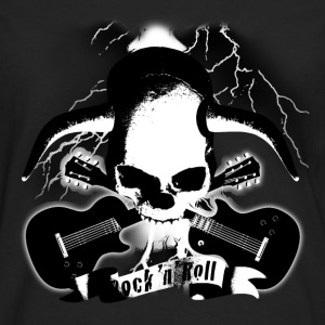 skull_and_horns_and_guitars_b_sw T-Shirts - Men's Premium Longsleeve Shirt
