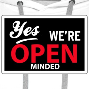 yes we are open minded T-skjorter - Premium hettegenser for menn