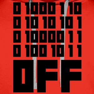 Fuck OFF - Binary Code T-Shirts - Men's Premium Hoodie