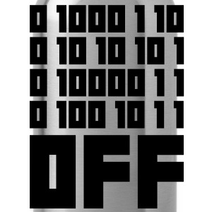 Fuck OFF - Binary Code T-shirts - Vattenflaska