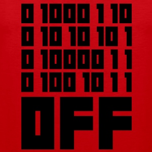 Fuck OFF - Binary Code T-Shirts - Men's Premium Tank Top