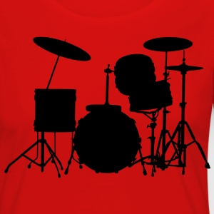 music drums drum set T-shirts - Långärmad premium-T-shirt dam