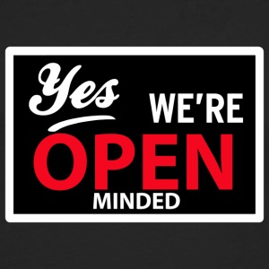 yes we are open minded T-shirt - Maglietta Premium a manica lunga da uomo