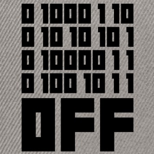 Fuck OFF - Binary Code Tee shirts - Casquette snapback