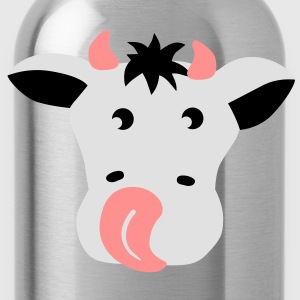 Kuh Gesicht Rind - cow face bull T-Shirts - Trinkflasche