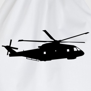 helicopter kids military rc T-Shirts - Drawstring Bag