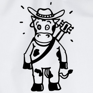 Cow cowboy with a guitar T-Shirts - Drawstring Bag