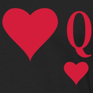 Heart Queen | queen of hearts | Q T-Shirts - Långärmad premium-T-shirt herr