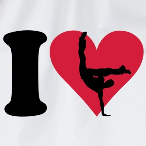 I love Breakdance T-Shirts - Turnbeutel