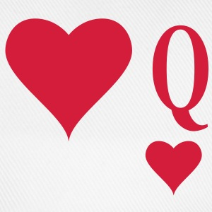 Heart Queen | queen of hearts | Q T-Shirts - Baseballcap