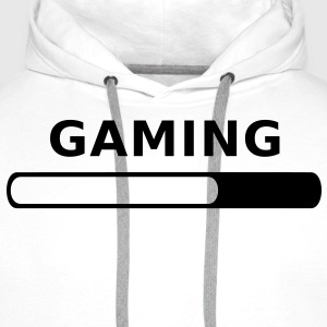 Gaming Progress T-Shirts - Men's Premium Hoodie
