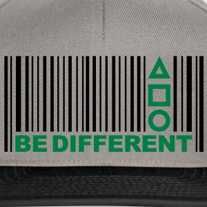 Be Different - Barcode - Simboli - Codice a barre T-shirt - Snapback Cap