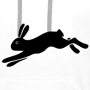 rabbit bunny hare ears easter cute puss prey T-Shirts - Men's Premium Hoodie