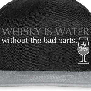 Whisky is water, bicolor T-shirts - Snapback cap