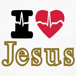I LOVE JESUS - Men's Premium Longsleeve Shirt