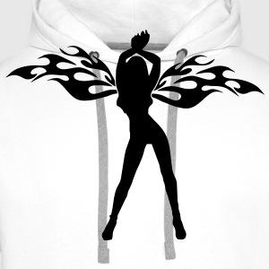 angel woman sexy sex tribal wings Camisetas - Sudadera con capucha premium para hombre
