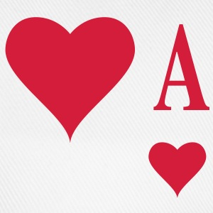 Herz Ass | Heart Ace | ace of hearts | A T-Shirts - Cappello con visiera