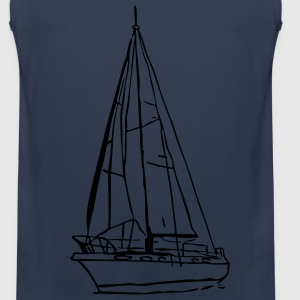 sailboat2 T-Shirts - Männer Premium Tank Top