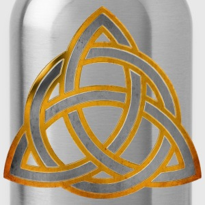CELTIC KNOT - silver gold antique | Männershirt XXXXL - Trinkflasche