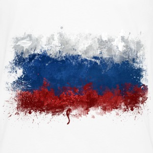 Russian Flag Graffiti - Men's Premium Longsleeve Shirt