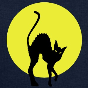 black cat full moon T-shirt - Felpa da uomo di Stanley & Stella