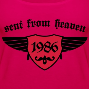 sent from heaven 1986 T-Shirts - Frauen Premium Tank Top