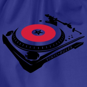 VINYL RULES TURNTABLE T-Shirts - Turnbeutel