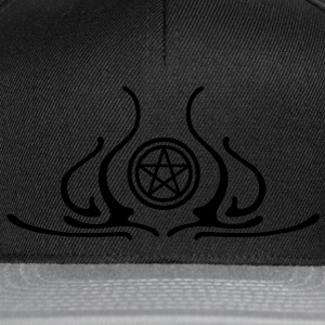 pentagram, five star, pentagram, githic, goth, pagan, witch, wicca, witchcraft, magic T-Shirts - Snapback Cap