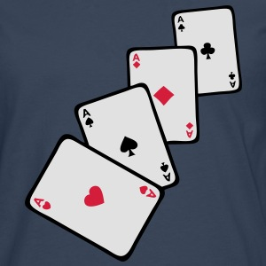 carte poker carre as1 Tee shirts - T-shirt manches longues Premium Homme