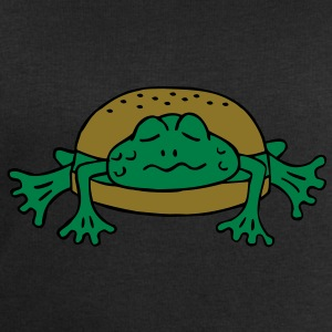 Froschburger French Burger Fastfood Frog ohne Käse without cheese Frankreich France T-shirts - Mannen sweatshirt van Stanley & Stella