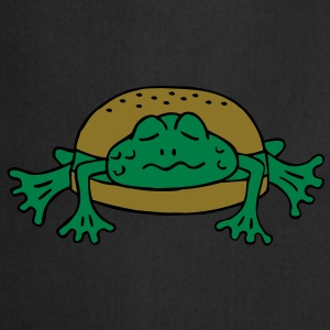 Froschburger French Burger Fastfood Frog ohne Käse without cheese Frankreich France T-shirts - Keukenschort