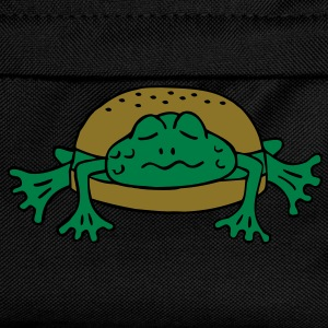 Froschburger French Burger Fastfood Frog ohne Käse without cheese Frankreich France T-shirts - Rugzak voor kinderen