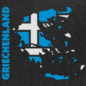 griechenland_umriss_flagge_50 Camisetas - Gorra Snapback