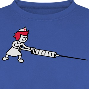 nurse_with_syringe T-shirts - Mannen sweater