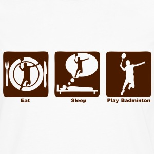badminton eat sleep play Tee shirts - T-shirt manches longues Premium Homme