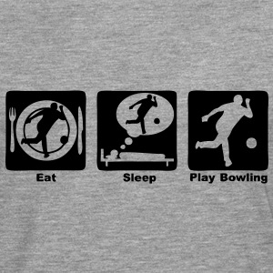 bowling eat sleep play Tee shirts - T-shirt manches longues Premium Homme