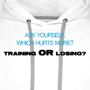 Which hurts more - Men's Premium Hoodie