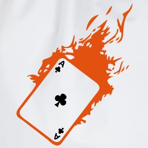carte poker card as flamme trefle2 Tee shirts - Sac de sport léger
