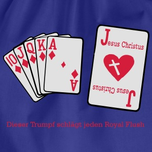 Jesus & Royal Flush  T-Shirts - Turnbeutel