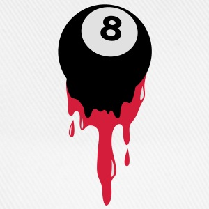 bleeding eight 8 ball from snooker or pool T-Shirts - Baseball Cap
