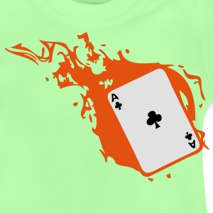 carte poker card as flamme trefle1 Tee shirts Enfants - T-shirt Bébé