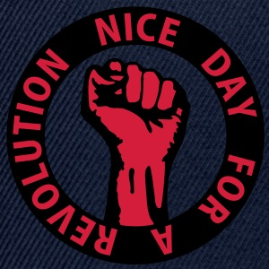 2 colors - nice day for a revolution - against capitalism working class war revolution T-shirt - Snapback Cap
