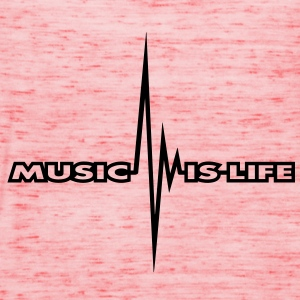 music_is_life_pulse Tee shirts - Débardeur Femme marque Bella