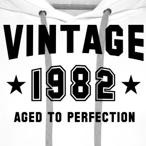 VINTAGE 1982 T-Shirt - Aged To Perfection BK - Bluza męska Premium z kapturem