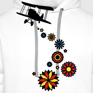 It's raining flowers! (PNG) Girlie-T-Shirt - Men's Premium Hoodie
