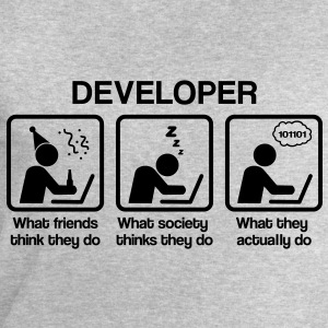 Developer - What my friends think I do T-Shirts - Männer Sweatshirt von Stanley & Stella